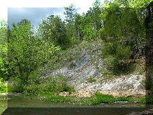 Strongly sloping glade above the Little Cahaba River at the same location as image at left